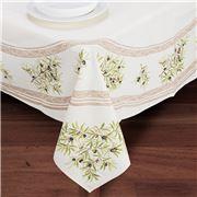 French Linen - Clos des Oliviers Ecru Tablecloth 155x250cm