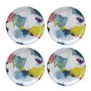 Ary Trays - Bluebell Grey Abstract Coaster Set 4pce