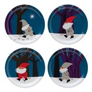 Ary Home - Santa Parade Coaster Set 4pce