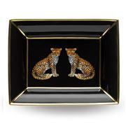 Halcyon Days - Magnificent Wildlife Leopard Trinket Tray