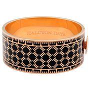 Halcyon Days - Harlequin Black & Gold Bangle