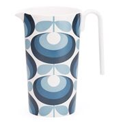 Orla Kiely - Oval Flower Blue Melamine Pitcher