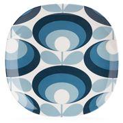 Orla Kiely - Oval Flower Blue Melamine Side Plate
