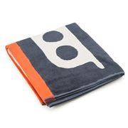 Orla Kiely - Out At Sea Kids' Navy Bath Towel