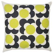 Orla Kiely - Shadow Flower Lemon Yellow Cushion 59x59cm