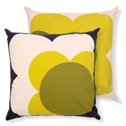 Orla Kiely - Big Spot Shadow Flower Lemon Yellow Cushion