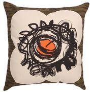 Orla Kiely - Textured Spot Flower Dark Olive Cushion