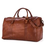 I Medici - Tan Leather Travel Duffle Bag