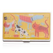 Business card card holders peters of kensington acme studios cats dogs card case reheart