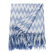 Linen & Moore - Nevada Denim Ikat Throw Rug