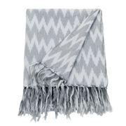 Linen & Moore - Nevada Fog Ikat Throw Rug