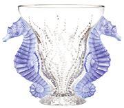 Lalique - Poseidon Blue Lavender Vase