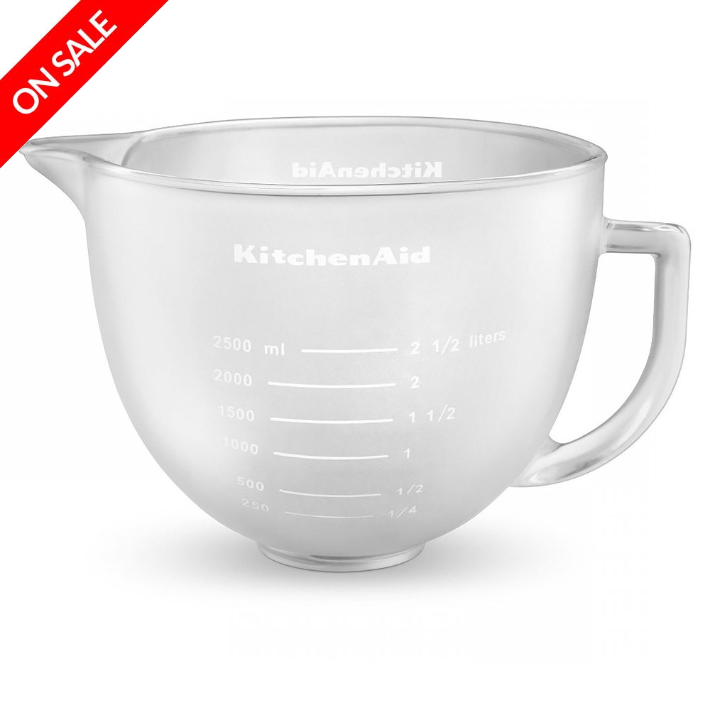 Kitchenaid accessories artisan frosted glass bowl 4 7l peter 39 s of kensington - Kitchen aid artisan accessories ...
