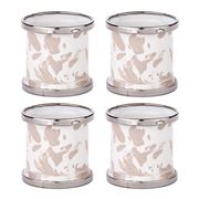Golden Rabbit - Swirl Taupe Napkin Ring Set 4pce