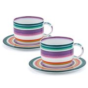 Missoni Home - Zig Zag Teacup & Saucer Set 2pce