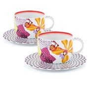 Missoni Home - Flowers Teacup & Saucer Set 2pce