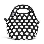 Built NY - Gourmet Getaway Big Dot Black Mini Snack Tote