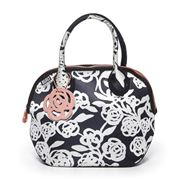 Built NY - Downtown Garden Rose Black & White Lunch Tote