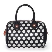 Built NY - Uptown Black & White Dot Lunch Tote