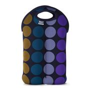 Built NY - Two-Bottle Wine Tote Plum Dot
