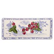 Gien - Oiseau Bleu Serving Tray Rectangular Fruits