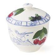 Gien - Oiseau Bleu Fruits Sugar Bowl