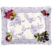 Gien - Oiseau Bleu Fruits Large Serving Tray
