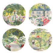 Gien - Paris a Giverny Canape Plate Set 4pce