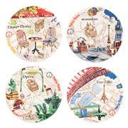 Gien - Paris Canape Plate Set 4pce