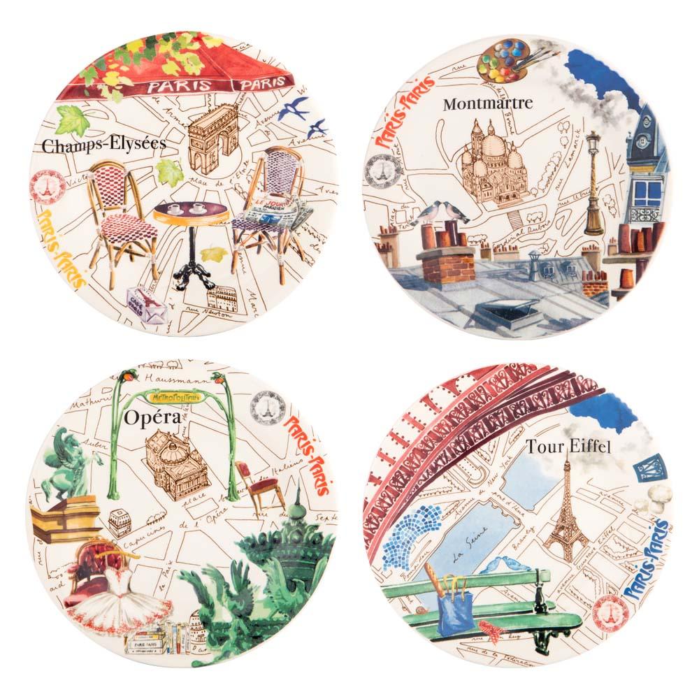 Gien paris canape plate set 4pce peter 39 s of kensington for Canape plate sets