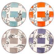 Gien - Allure Canape Plate Set 4pce