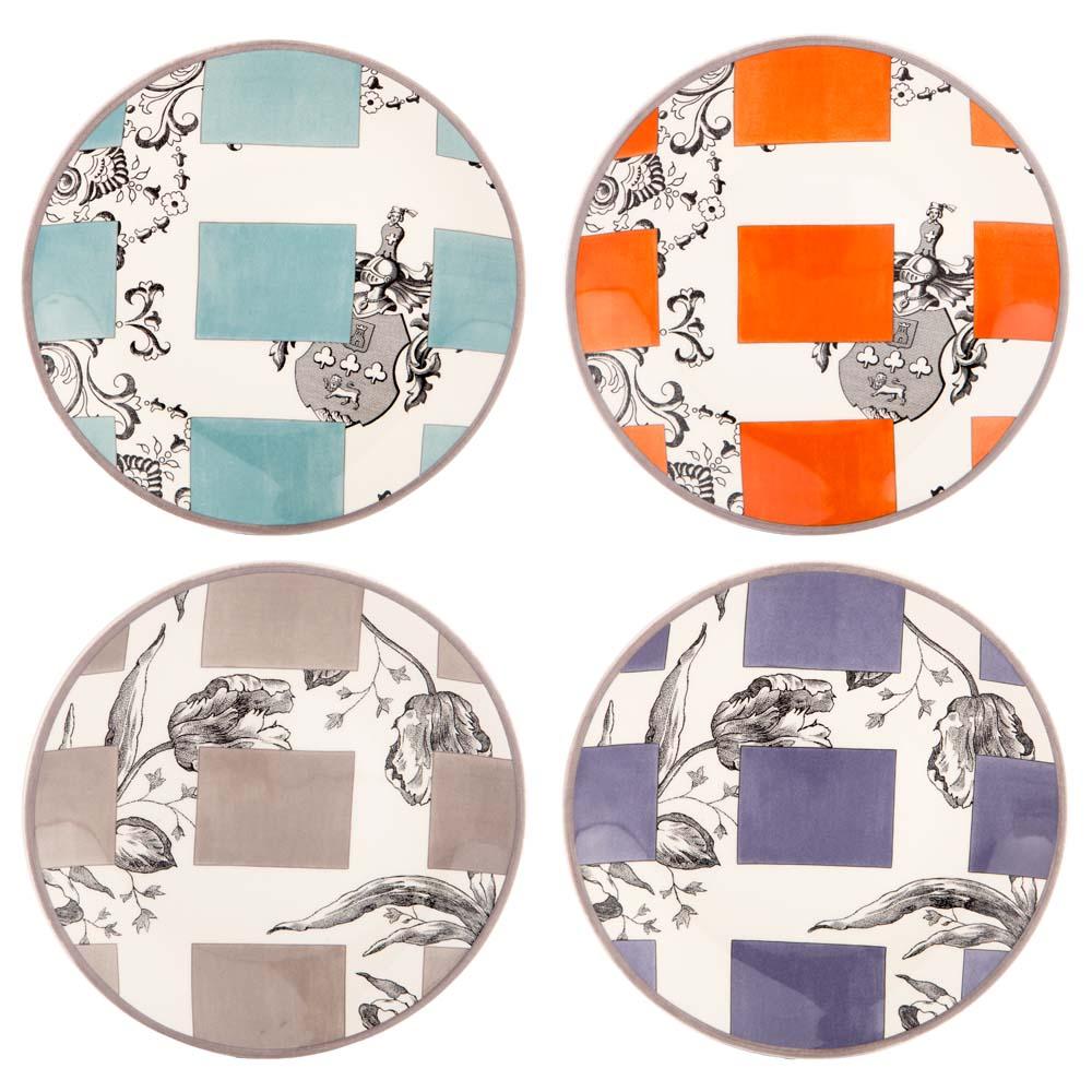 Gien allure canape plate set 4pce peter 39 s of kensington for Canape plate sets