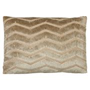 Dransfield & Ross - Chevron Travertine Plush Cushion 32x50cm