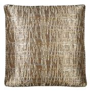 Dransfield & Ross - Gold Metallic Plaid Cushion 54x54cm