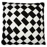 Sunbrella - Black/White Diamond Basketweave Cushion 52x52cm