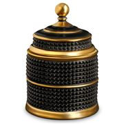 L'objet - Luminescence Bibliotheque Black & Gold Candle