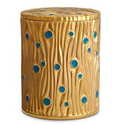 L'objet - Bois d'Or Gold & Turquoise Candle