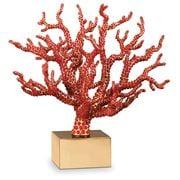 L'objet - Coral Centerpiece w/ Semi Precious Red Cabochons