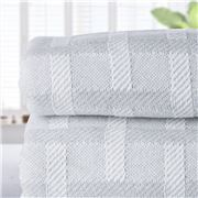 Brahms Mount - Wicker Wool & Cotton Blanket King Grey