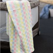 Brahms Mount - Hopscotch Multicoloured Cotton Baby Blanket