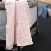 Brahms Mount - Checkmate Pale Pink Cotton Baby Blanket