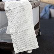 Brahms Mount - Starry Nights White Cotton Baby Blanket