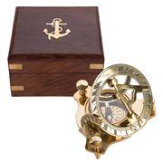 Peters - Brass Sundial & Compass