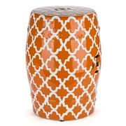 Avalon - Lattice Orange Decorator Stool