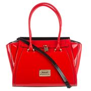 Serenade Leather - Allura Red Padlock Handbag