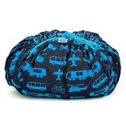 Brikbag - Busy City Blue Print Building Block Storage Bag