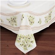 French Linen - Clos des Oliviers Ecru Rect Tablecloth Coated