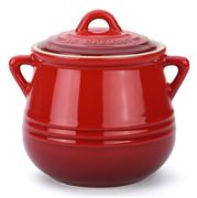 Le Creuset - Cerise Red Heritage Stoneware Mini Bean Pot