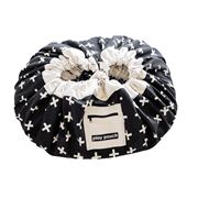 Play Pouch - Black & White Crosses Storage Pouch