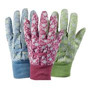 Briers - Falling Flower Medium Gardening Glove Set Of 3